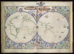 Map of the World in Two Hemispheres   f. 30